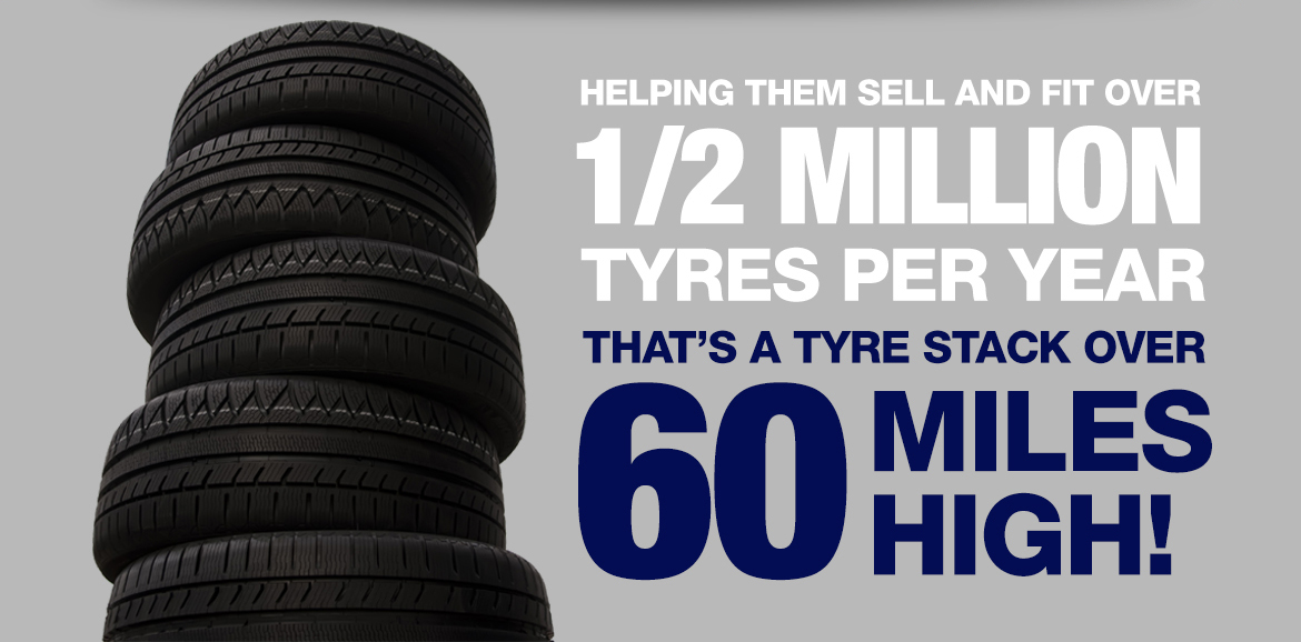 Helping them sell and fit over 1/2 million tyres per year