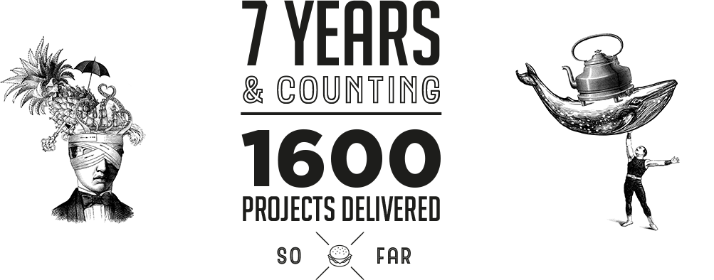 7 years & counting. 1600 projects delivered so far
